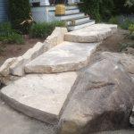 Installation de marches en pierre