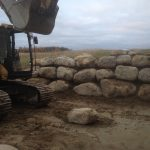 Installation de muret roches